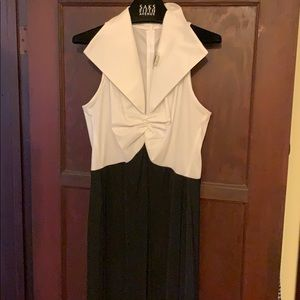 Tadashi b/w evening dress